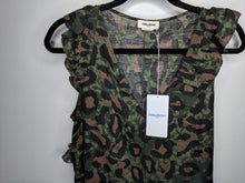 Load image into Gallery viewer, NWT $298 Zadig & Voltaire Rebelle Leo Dress Green Brown Black Leopard S