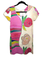 Load image into Gallery viewer, Hula Moon Jams World Dress Whimsy Floral Print Made in Hawaii sz XS
