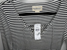 Load image into Gallery viewer, NWT $90 Denim & Supply Ralph Lauren Black White Stripe Tunic Dress sz L
