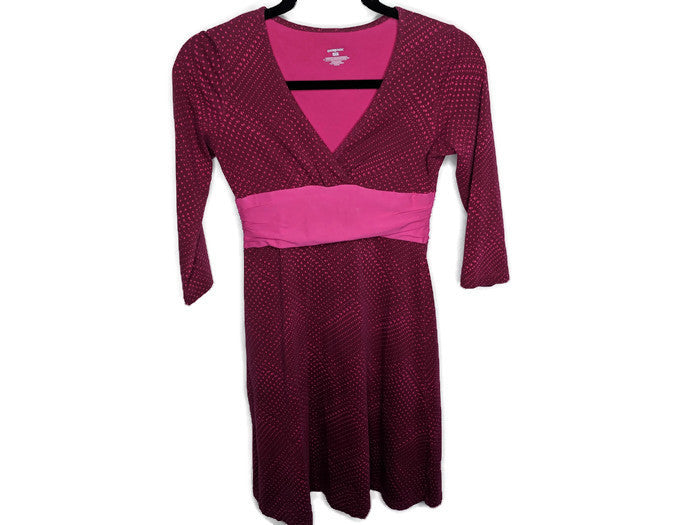 Patagonia Pink Geometric Prink Faux Wrap Dress sz XS