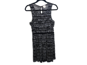 Anthropologie Postmark 9-h15 Stcl Black White Ruched Mesh Dress sz M