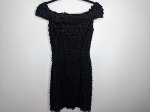 White House Black Market Ruffle Off The Shoulder Dress sz 2