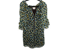 Load image into Gallery viewer, Milly Silk Shift Dress Leopard Print Made in US sz 4
