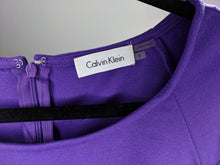 Load image into Gallery viewer, Calvin Klein Sheath Dress Purple Ponte Career Work Business Bodycon sz 8