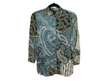 Load image into Gallery viewer, Citron Santa Monica Blouse Paisley Print sz S
