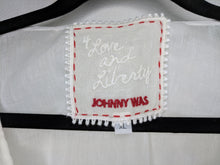 Load image into Gallery viewer, NWT $150 Johnny Was White Vera Ruffle Tank sz XL