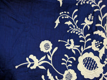 Load image into Gallery viewer, Anthropologie Floreat Blue Dress White Floral Embroidery sz 12