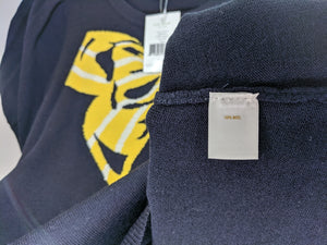 NWT $225 Kate Spade Joanie Radcliffe Sweater Navy with Yellow Bow sz S
