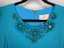 Load image into Gallery viewer, New $458 Kate Spade Turquoise Blue Dress Jewel Neck sz 12