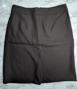 NWT $70 Ann Taylor Loft Brown Pencil Skirt sz 6
