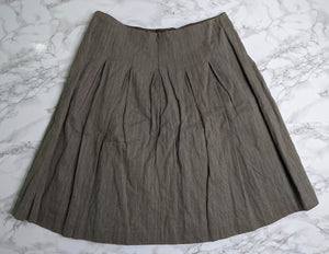 CABi Brown Plaid Pleaded Liverpool Riding Club Skirt sz 6