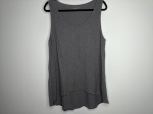 Eileen Fisher Gray Scoop Neck Tank sz XL
