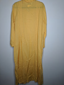 FLAX Marigold Linen Maxi Dress sz L