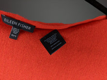 Load image into Gallery viewer, Eileen Fisher Italian Merino Wool Orange Poncho O/S