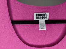 Load image into Gallery viewer, Chicos Pink Sweater Shell Tank sz 3