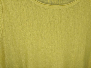 Eileen Fisher Green Linen Boatneck Sweater sz XL