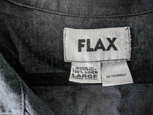 Load image into Gallery viewer, FLAX Black Linen Jacket sz L