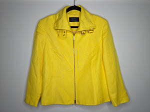 Dana Buchman Yellow Jacket Buckle Neck Blazer sz 16
