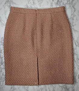 NWOT $89 J.CREW The Pencil Skirt Pink Tweed sz 6