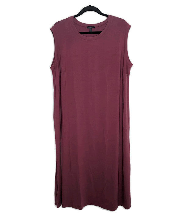 Eileen Fisher Mauve Pink Midi Tank Dress US Made sz 1X