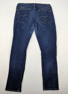 7 For All Mankind Josefina Skinny Boyfriend Jeans sz 30