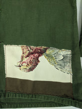 Load image into Gallery viewer, Vintage Army Jacket Reclaimed w/ Vintage Hermes Belle Chasse Silk Scarf sz L