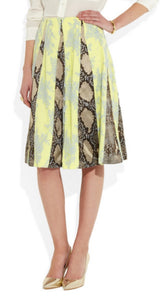 Women ERDEM Skirt sz 6 M Jemima Python Print Satin Lace Crepe Silk Made UK NWT