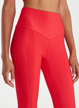 Load image into Gallery viewer, Onzie Sweetheart Midi Leggings in Red Rib S/M Yoga Fitness Made in USA NWT $72