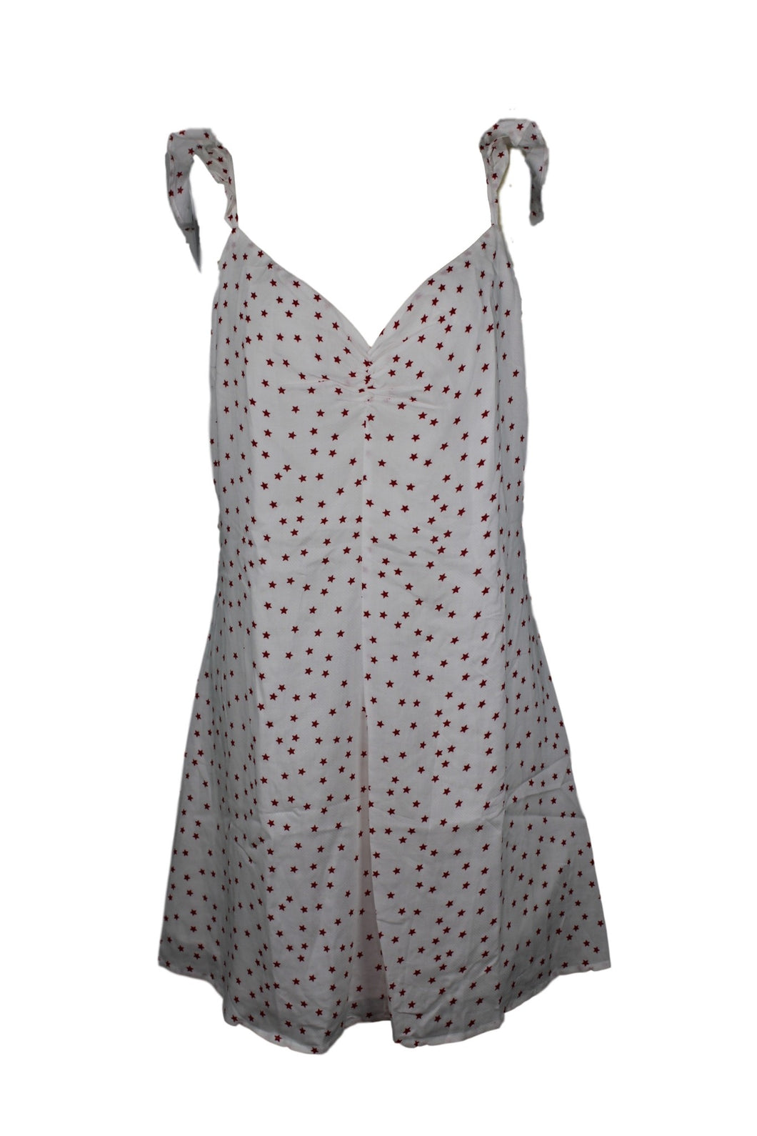 BB Dakota Stars Align Dress sz 8 Ivory w/ Red Star Print Short Mini NWT $88