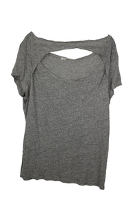 Free People June Tee sz L Cutout T-Shirt Heather Grey NWT $58