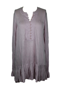 Free People YOUR GIRL TUNIC sz XS in Dusty Lavender Purple NWT $78 *dirt