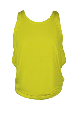 Free People Lifes A Wave Tank Top sz XS in Neon Lemon Yellow NWT $38