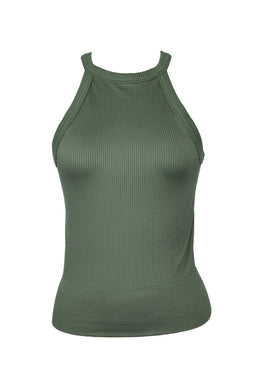 Free People WIDE EYED TANK sz M in Army Green NWOT $20