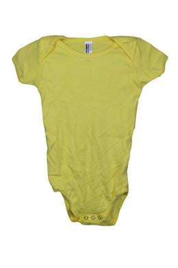 American Apparel Infant Baby One Piece sz 6-12 Months in Lemon Yellow NEW $10