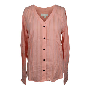 Treasure & Bond Tie Back Blouse sz XS in Coral Salmon Pink NWT $69