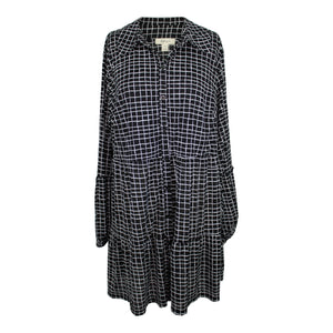 Style & Co Black Tiered Plaid Tunic sz 1X Black White NWOT $59