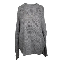 Load image into Gallery viewer, Elodie Open Stitch Pullover Sweater sz XL in Gray NWT 30