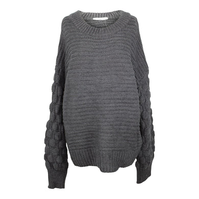 Elodie Bubble Sleeve Pullover Sweater sz XL Charcoal NWT $40