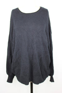 14th & Union Round Neck Sweater sz S Petite in Black Balloon Sleeve NWT $25