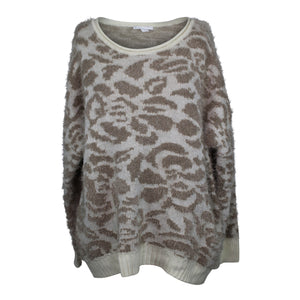 14th & Union Leopard Animal Print Sweater sz M Ivory Pristine Combo NWT $30