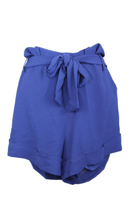 Gibson Living in Yellow Ivy Paperbag Tie Waist Shorts sz XS in Navy Blue NWT $56
