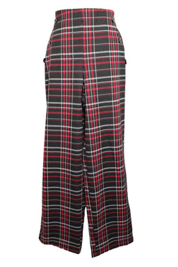 Cloth By Design Pull On Sailor Pants sz M Black Red White Plaid NWT $33