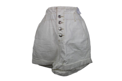 Topshop Paperbag Denim Shorts sz 8 in White NWT $60