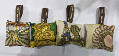 *Reserved* Hermes Silk Scarf Ornaments - Bundle of Four