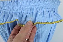 Load image into Gallery viewer, MISA Los Angeles Eda Dress sz XS Light Blue Gold Stripe NWT $290 Made in USA