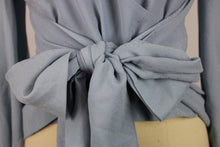 Load image into Gallery viewer, Keepsake Gracious Long Sleeve Top sz S Powder Blue Bow Tie Waist NWT $150