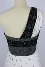 Load image into Gallery viewer, A.L.C. Aurora Dress sz 2 White & Black Pleated One Shoulder Polka Dot NWT $795