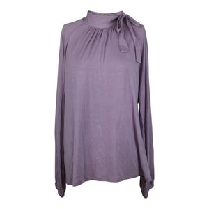 Ralph Lauren Tie Neck Top sz XL Dusty Lilac Purple Blouse Long Sleeve NWT $79.50