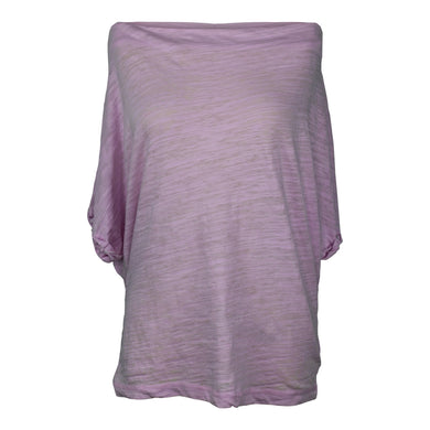 Free People Off-The-Shoulder Burnout Tee Shirt Orchid Light Lilac Purple NWT $58