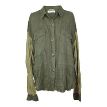 Load image into Gallery viewer, Free People DAY DRIFTER TOP sz M in Army Green NWT $128